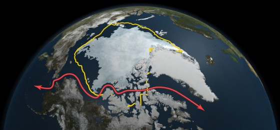 Artic Sea Levels in 2011