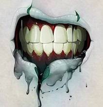 Drooling Zombie Mouth